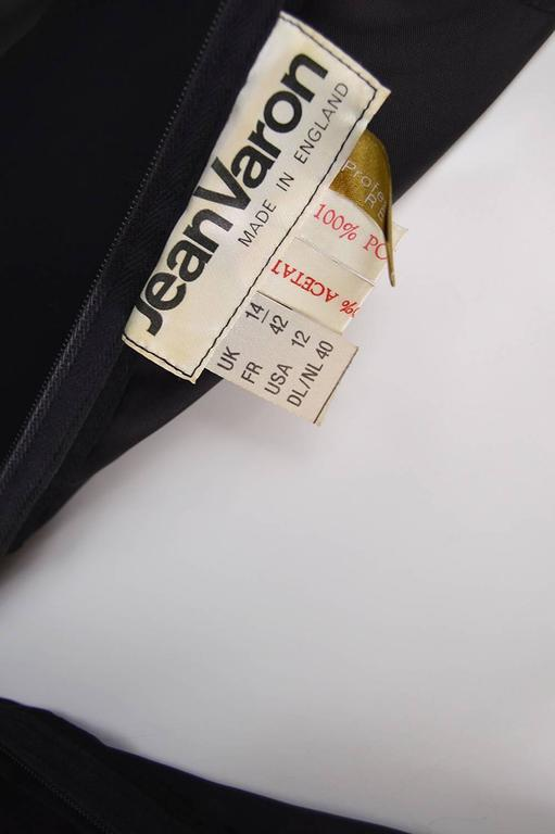 Jean Varon Vintage Black Chiffon Evening Gown, 1970s  For Sale 2