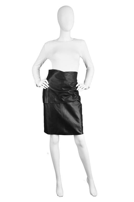 db222a5f7b33 An incredibly soft and luxurious real sheepskin leather pencil skirt from  the 1980s by master of