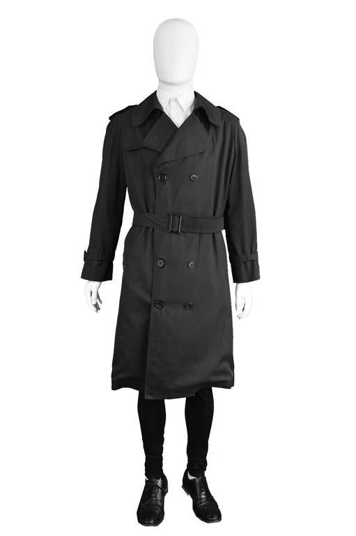 1980s Mens Vintage Christian Dior Trench Coat At 1stdibs