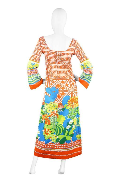 Lanvin Boutique Orange Tropical Cactus Printed Maxi Dress, S/S 1973 5