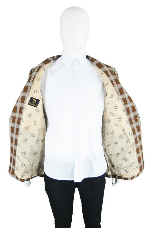 Bill Blass For Neiman Marcus Mens Wool Windowpane Check Jacket 1960s At 1stdibs