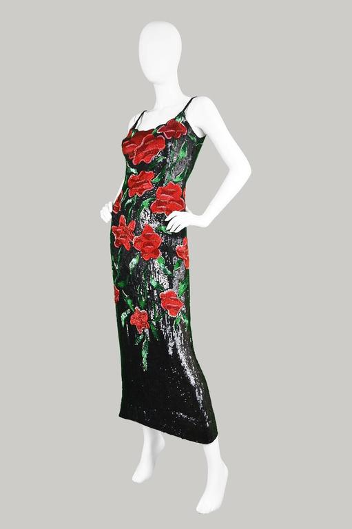 Women's or Men's Renato Balestra Couture Beaded & Embroidered Evening Gown, 1990s. For Sale