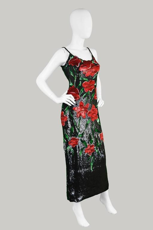 Renato Balestra Couture Beaded & Embroidered Evening Gown, 1990s. For Sale 1