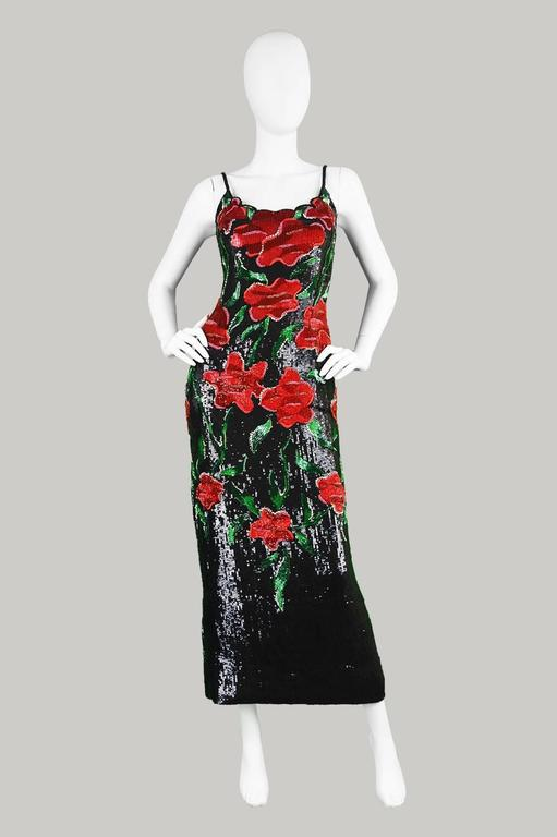 Renato Balestra Couture Beaded & Embroidered Evening Gown, 1990s. For Sale 2