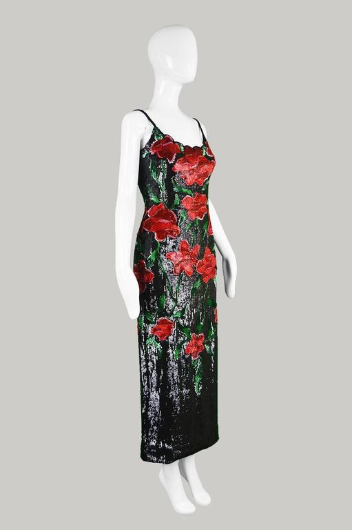 Renato Balestra Couture Beaded & Embroidered Evening Gown, 1990s. For Sale 3