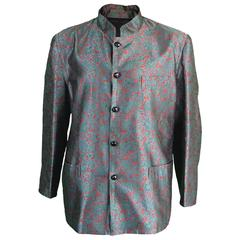 Rare Men's Yves Saint Laurent Rive Gauche Silk Nehru Jacket, c. 1960s