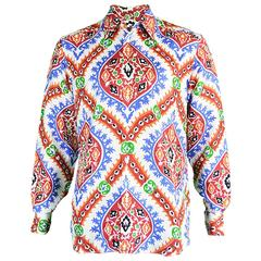 Prada Men's Silk Shirt with Holliday & Brown Collab Paisley Print, A/W 2003
