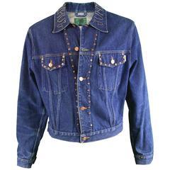 Jean Paul Gaultier Men's Vintage Studded Denim Jacket, 1980s