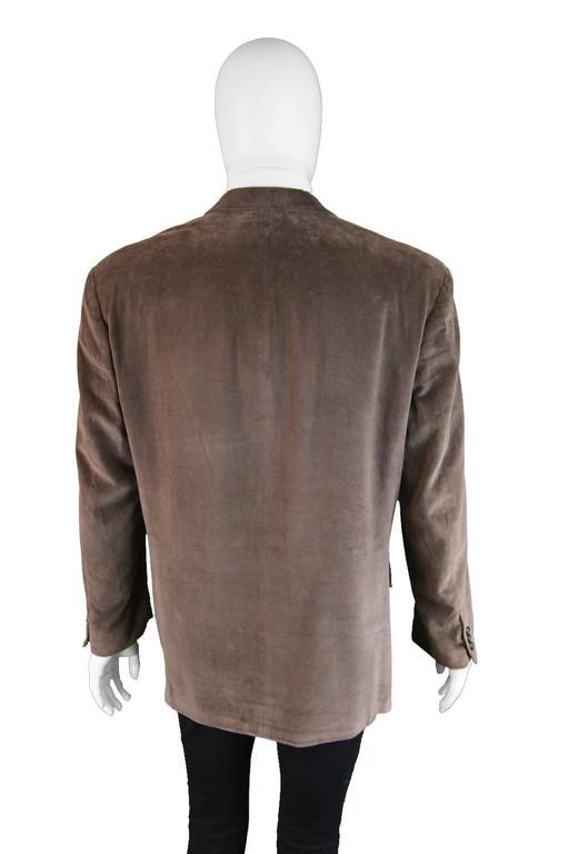 Hugo Boss Men S Vintage Brown Velvet Double Breasted