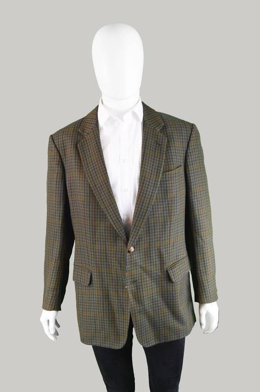 Burberry Men S Vintage Sport Coat Blazer With Suede Elbow