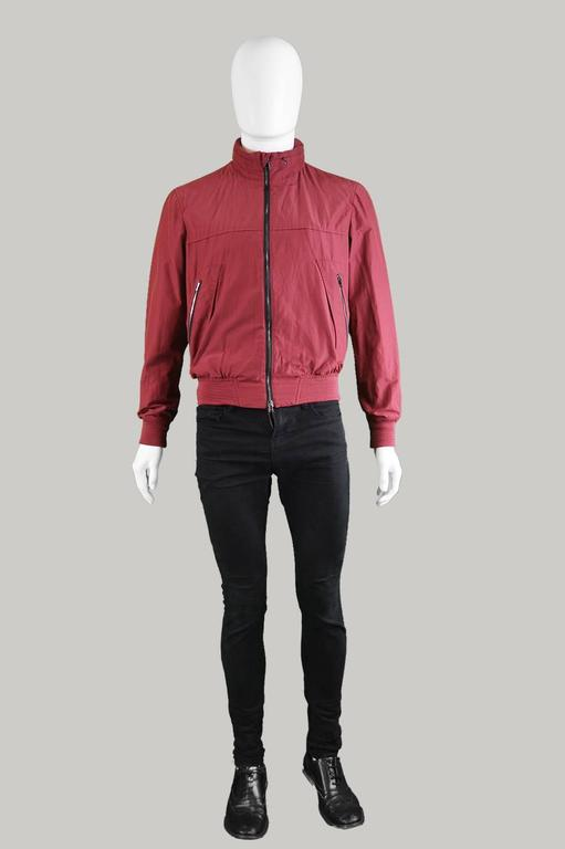 5a7d69846 Valentino Men's Wine Red Bomber Jacket 38