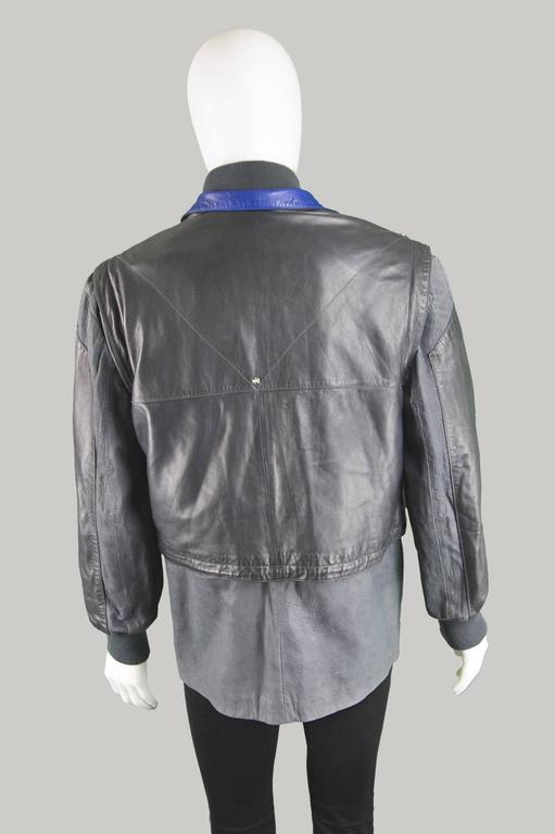 Claude Montana Men's Lambskin Leather Jacket with Detachable Vest, 1980s In Excellent Condition For Sale In Doncaster, South Yorkshire