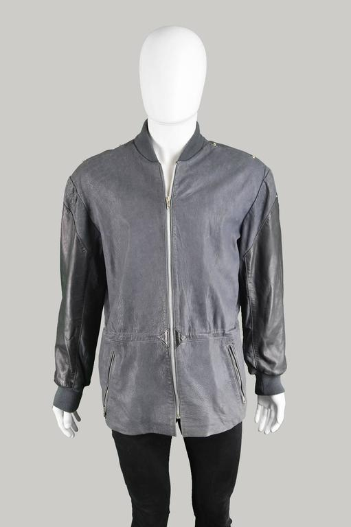 Claude Montana Men's Lambskin Leather Jacket with Detachable Vest, 1980s For Sale 3
