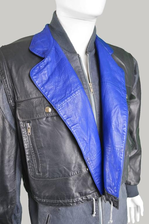 Claude Montana Men's Lambskin Leather Jacket with Detachable Vest, 1980s For Sale 6