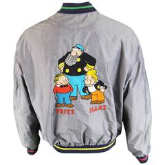 Jean-Charles de Castelbajac Men's Embroidered Bomber Jacket, 1990s