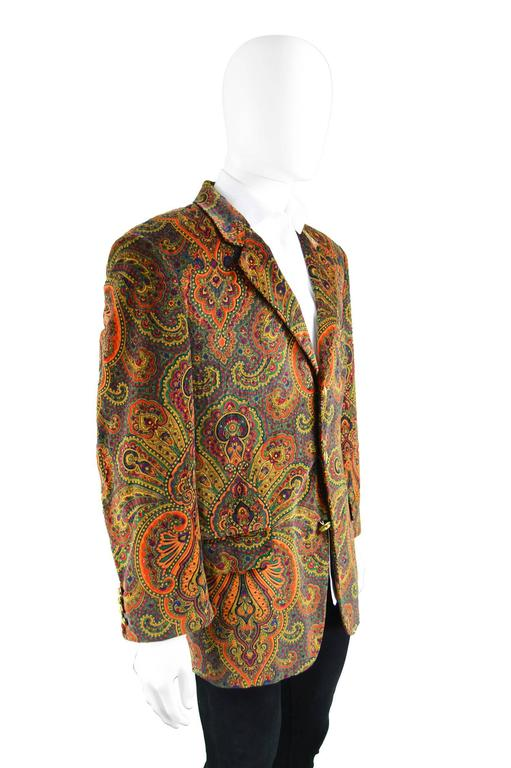 Moschino Vintage Men S Unworn With Tags Velvet Paisley