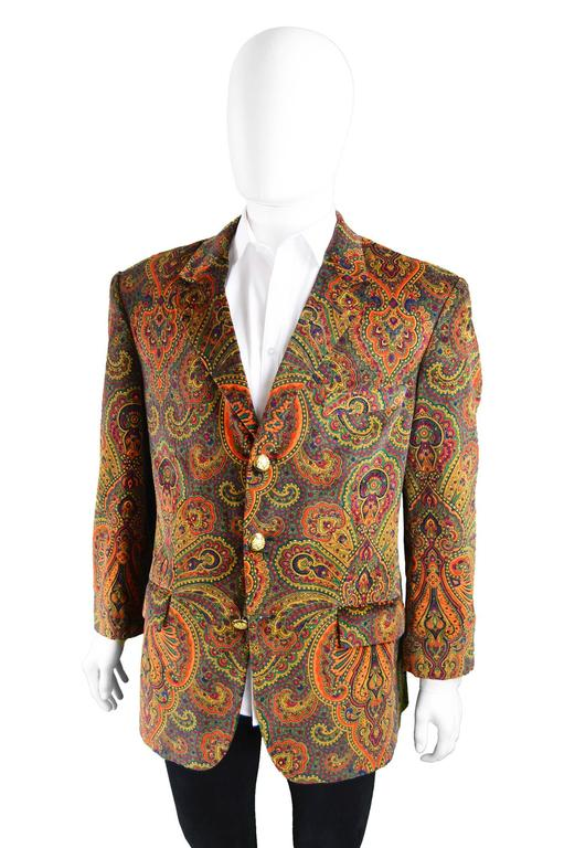 Moschino Vintage Men S Unworn With Tags Velvet Paisley