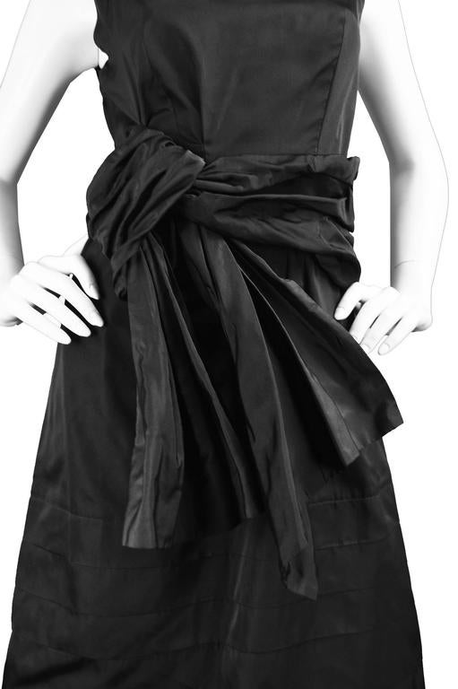 Chloe Black Silk Taffeta Cocktail Party Dress with Draped Bow Detail For Sale 5