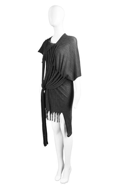 Junya Watanabe for Comme des Garcons Deconstructed Fine Knit Fringe Dress 2