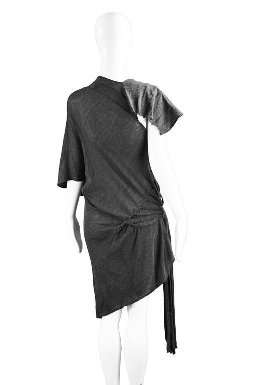 Junya Watanabe for Comme des Garcons Deconstructed Fine Knit Fringe Dress 6