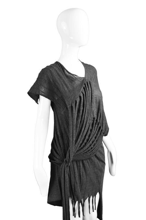 Junya Watanabe for Comme des Garcons Deconstructed Fine Knit Fringe Dress 4