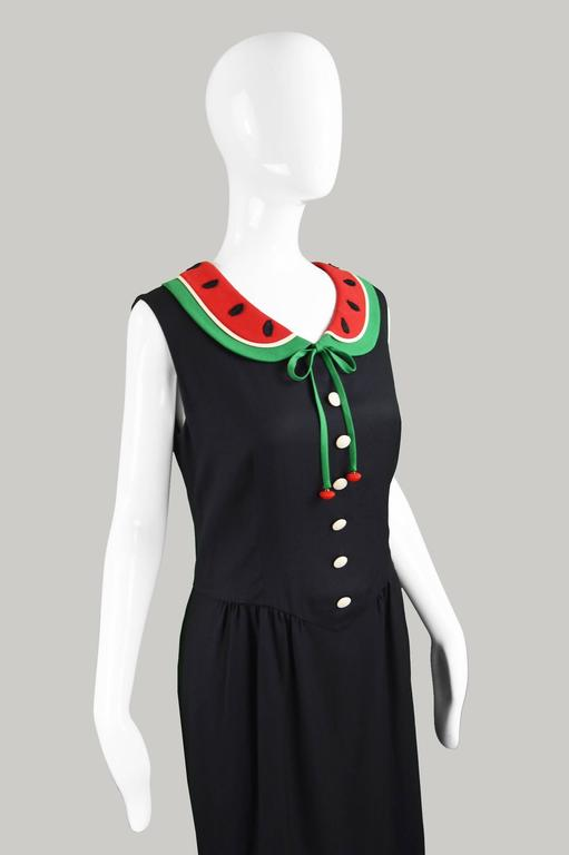 Moschino Cheap And Chic Vintage Watermelon Collar Dress