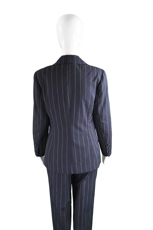 Chanel Womens Vintage Menswear Inspired Pinstripe Pant Suit, S/S 1997 3