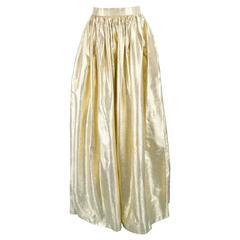 Albert Capraro Vintage Metallic Gold Lamé Maxi Skirt, 1980s