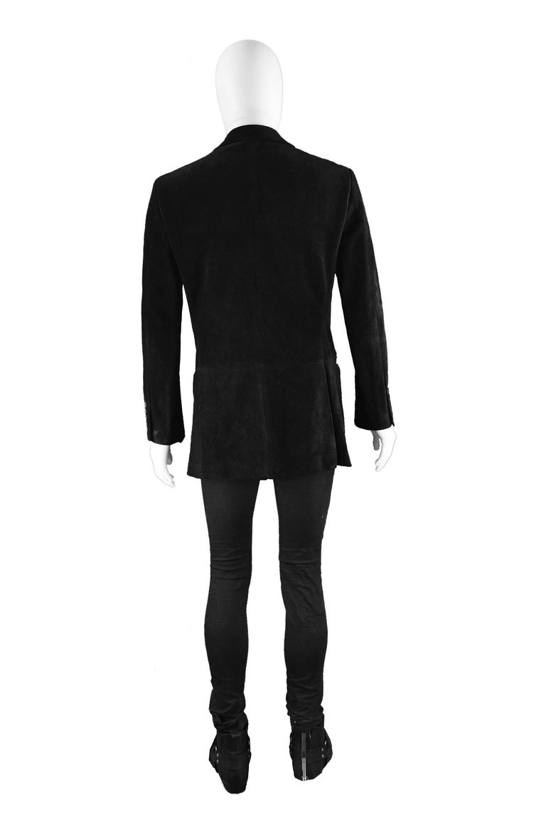 Tom Ford for Gucci Men's Black Suede Blazer with Peaked Lapels, A/W 2002 8