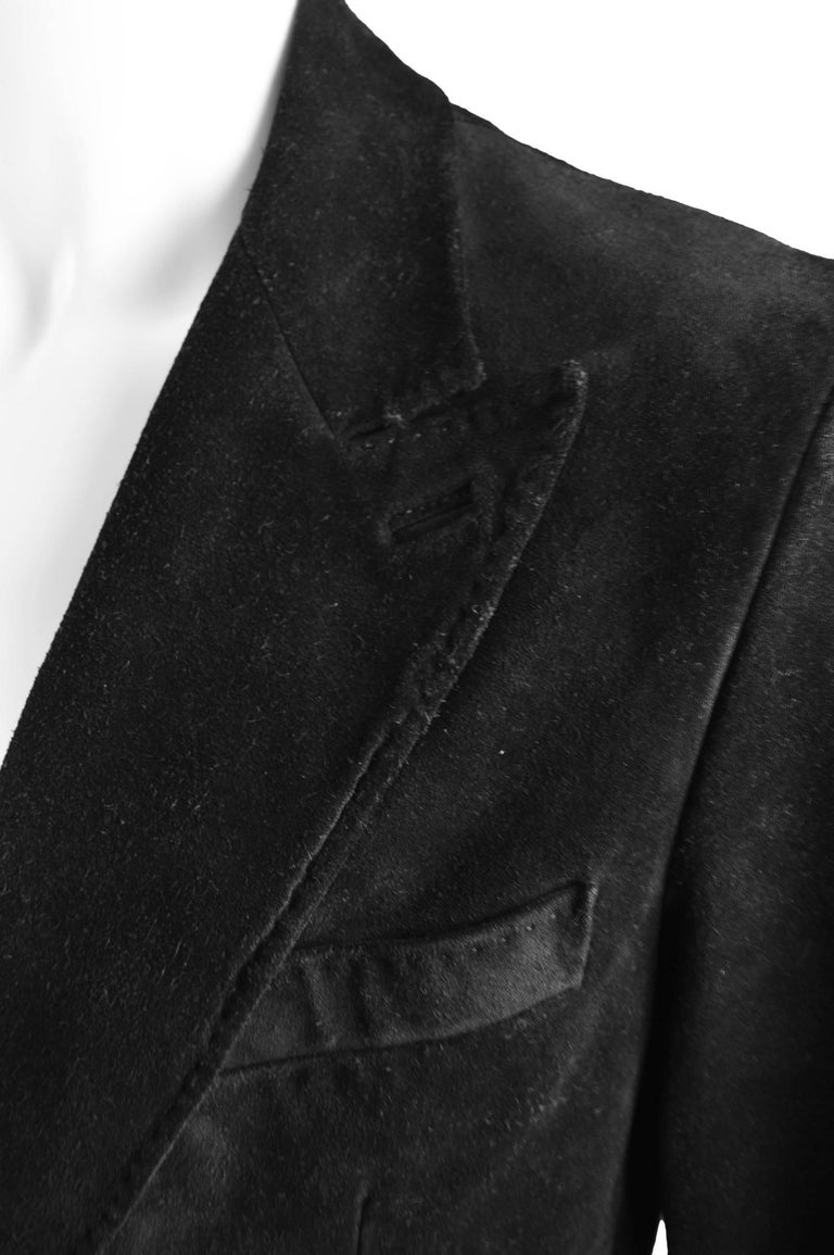 Tom Ford for Gucci Men's Black Suede Blazer with Peaked Lapels, A/W 2002 5