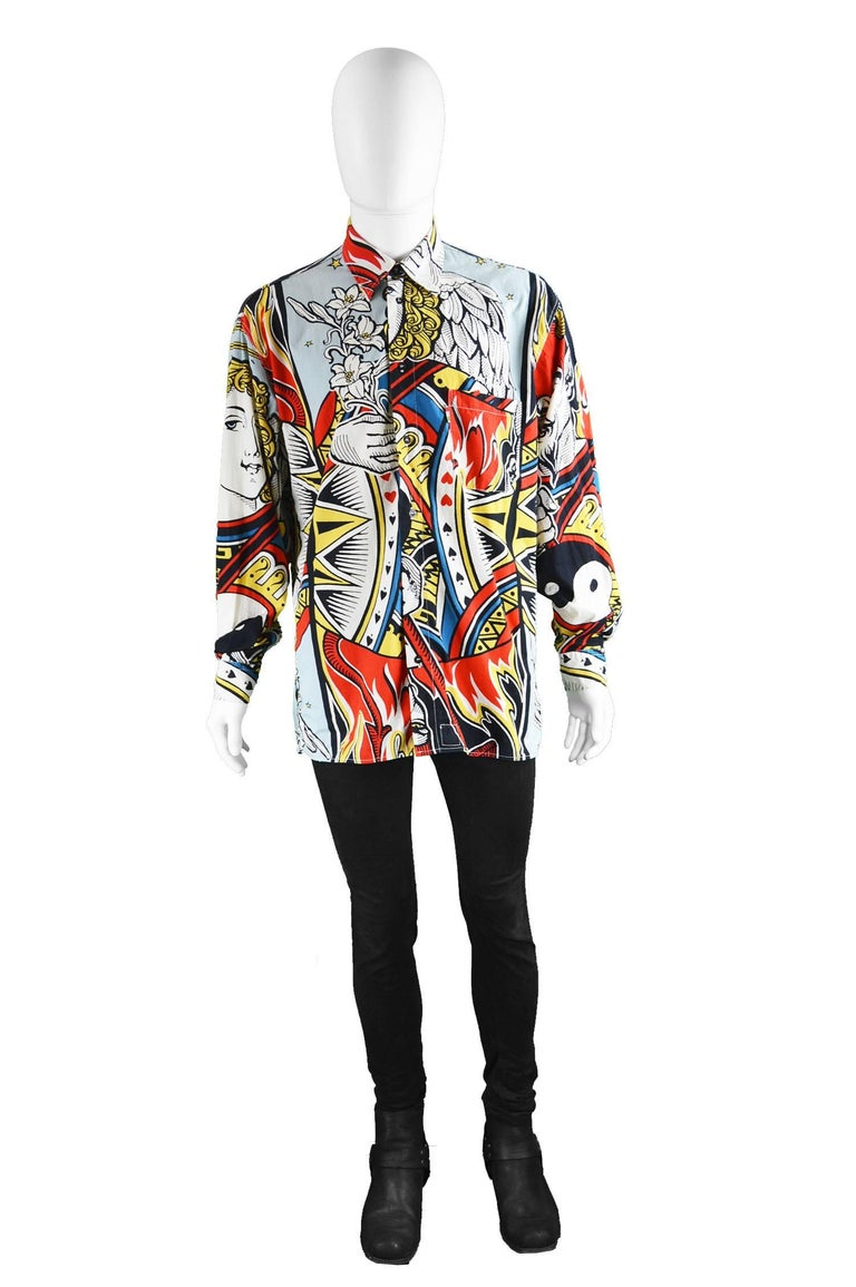 Moschino Devil Angel And Yin Yang Men S Cotton Button Up