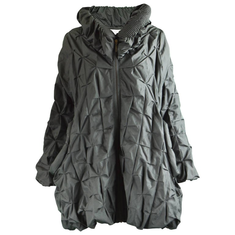 Lanvin Avant Garde Grey Geometric Pleated Oversized Jacket, Spring 2008