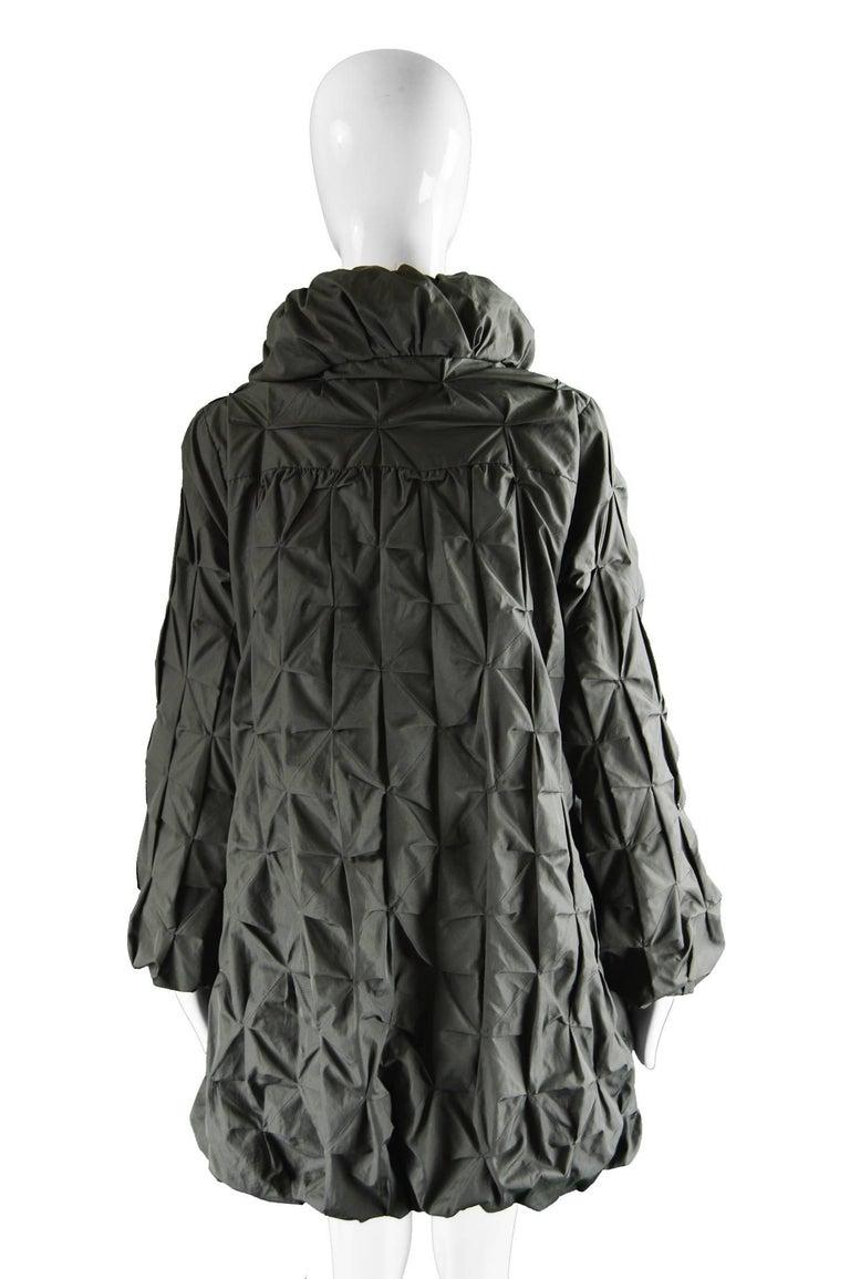 Lanvin Avant Garde Grey Geometric Pleated Oversized Jacket, Spring 2008 For Sale 1