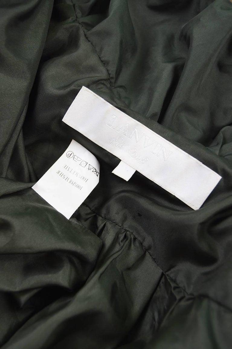 Lanvin Avant Garde Grey Geometric Pleated Oversized Jacket, Spring 2008 For Sale 3