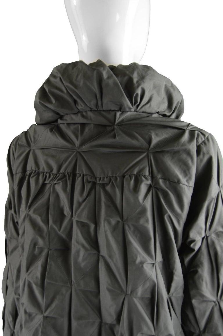 Lanvin Avant Garde Grey Geometric Pleated Oversized Jacket, Spring 2008 For Sale 2