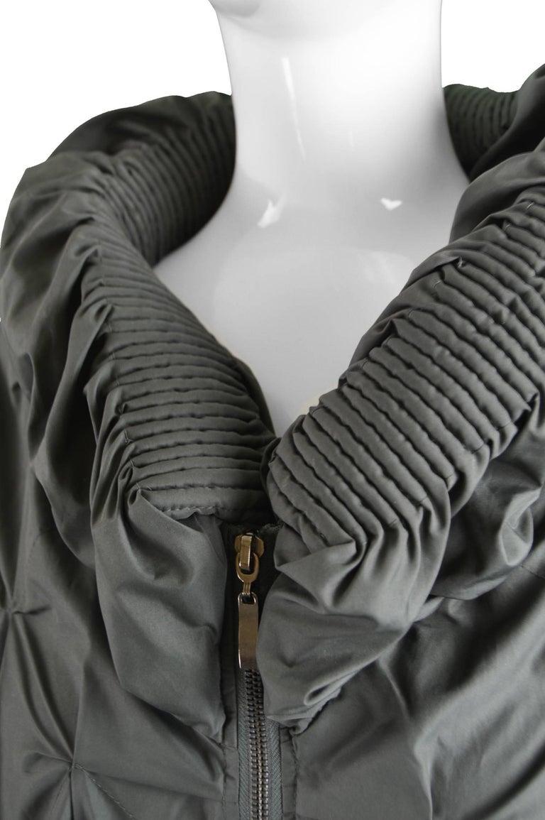 Black Lanvin Avant Garde Grey Geometric Pleated Oversized Jacket, Spring 2008 For Sale