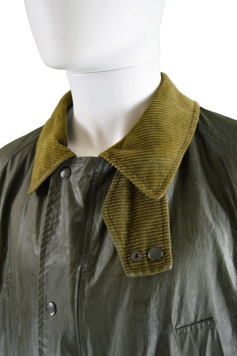 Burberry Rare Men S Vintage Dark Green Waxed Cotton Jacket