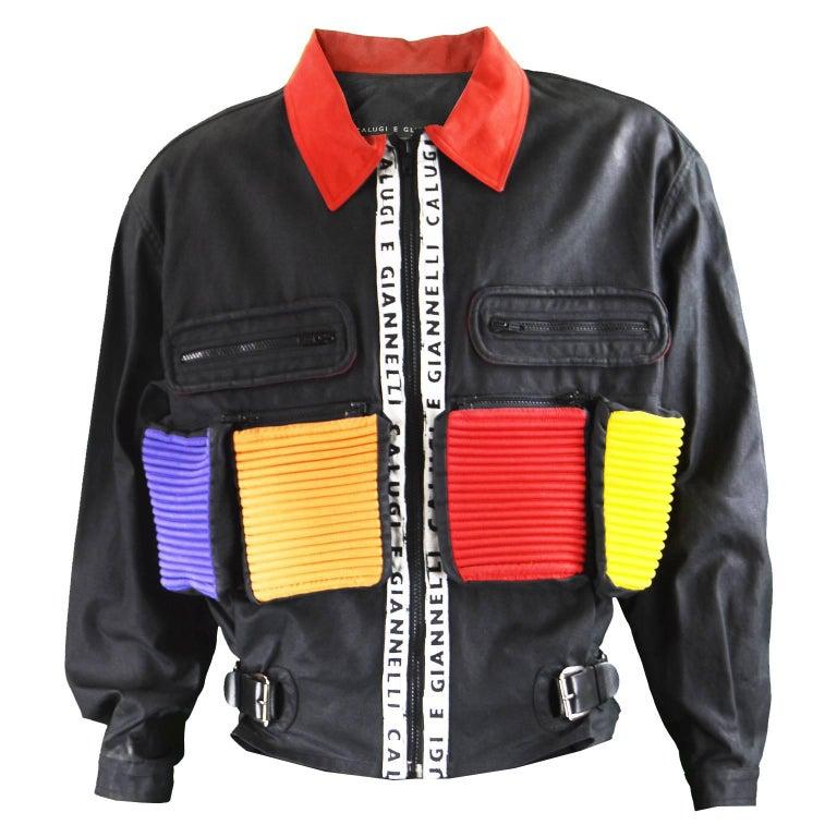 Calugi E Giannelli Men's Vintage Avant Garde Utility Jacket, 1980s