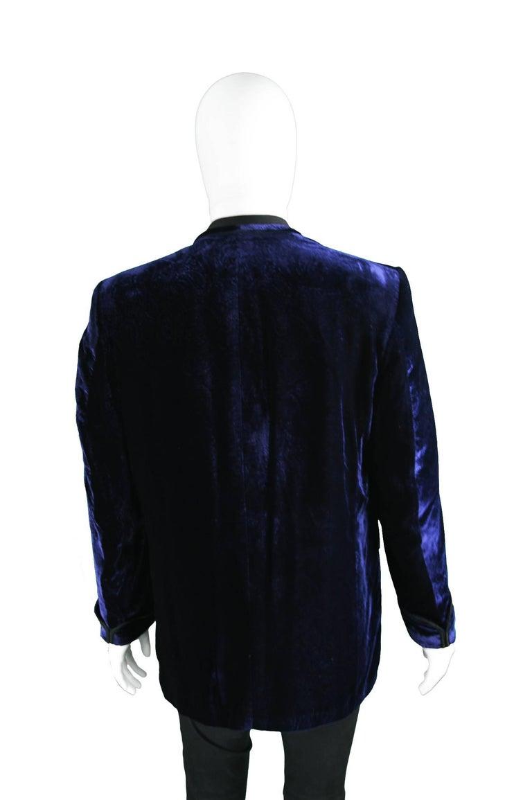 Tom Gilbey Men S Vintage Blue Paisley Print Velvet Smoking