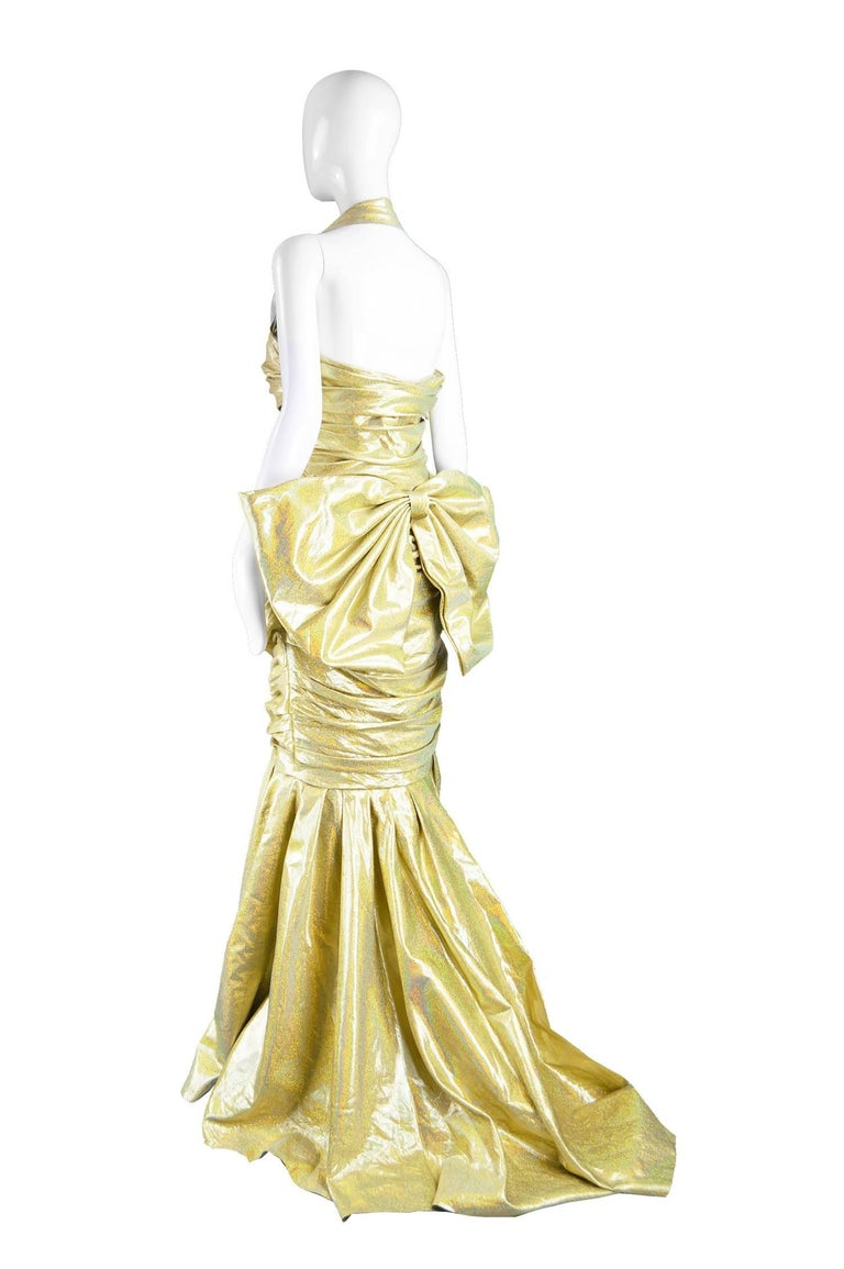 Moschino Couture Gold Barbie Collection Evening Gown, Spring 2015 In Excellent Condition For Sale In Doncaster, South Yorkshire