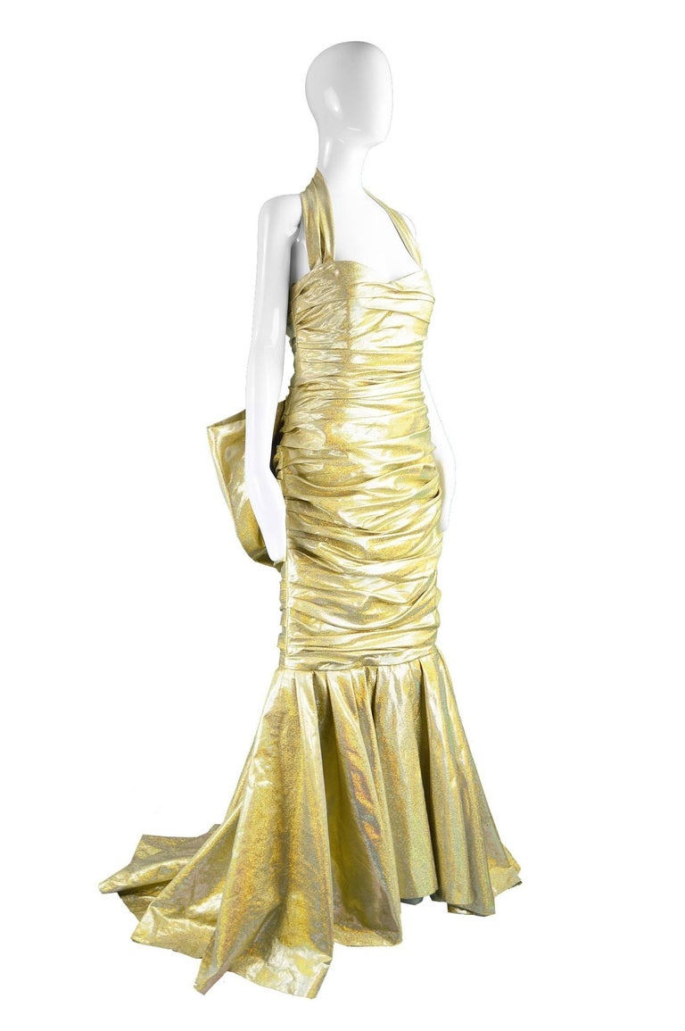 Moschino Couture Gold Barbie Collection Evening Gown, Spring 2015 For Sale 1