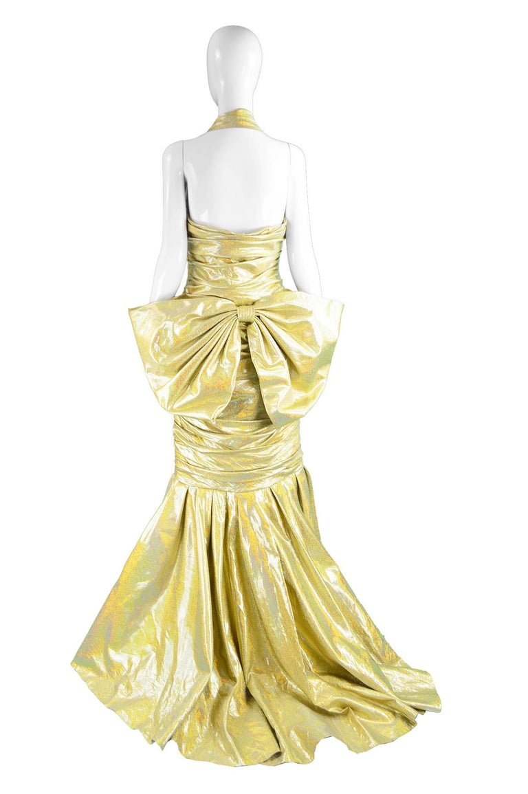 Moschino Couture Gold Barbie Collection Evening Gown, Spring 2015 For Sale 2