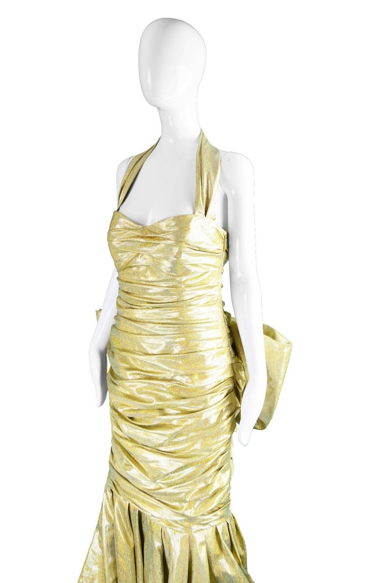 Moschino Couture Gold Barbie Collection Evening Gown, Spring 2015 For Sale 3