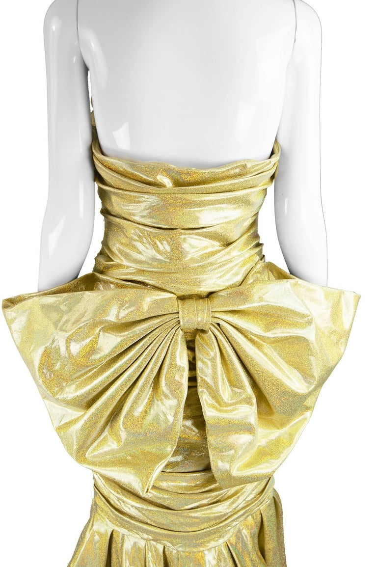 Moschino Couture Gold Barbie Collection Evening Gown, Spring 2015 For Sale 4