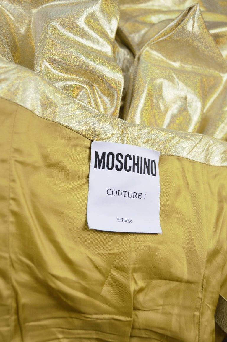 Moschino Couture Gold Barbie Collection Evening Gown, Spring 2015 For Sale 5