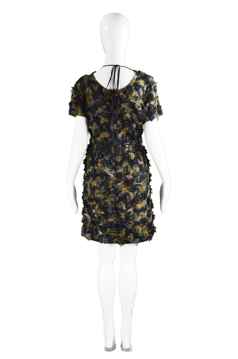 Marni Fuzzy Textured Gathered Silk Short Sleeve Party Dress, A/W 2010 For Sale 2