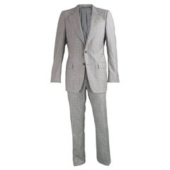 Yves Saint Laurent Men's Gray Wool Prince of Wales Check 2 Piece Suit