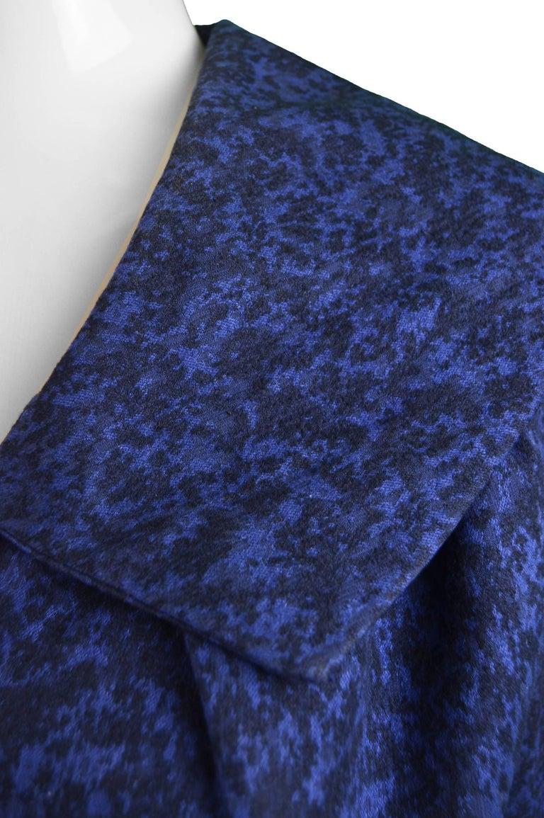 Christian Dior Vintage Blue & Black Wide Sailor Collar Dress, c.1954 3