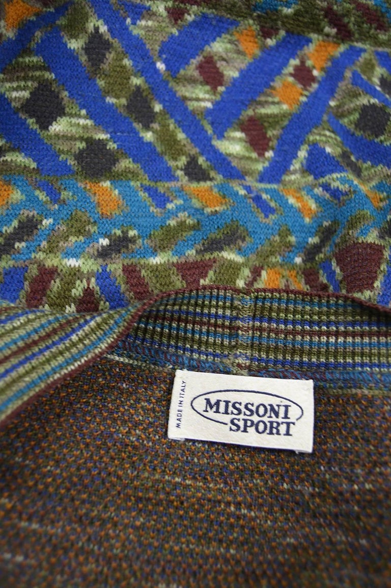 Vintage Multicolored Mens Sweater 106