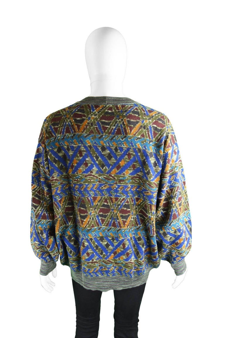 Vintage Multicolored Mens Sweater 58